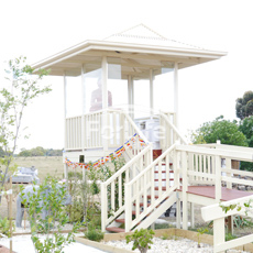 Gazebo with stairs & ramps